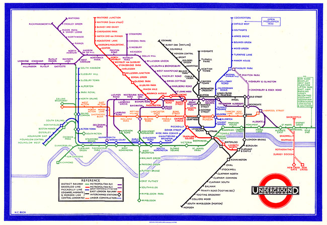 DAVID SHRIGLEY'S REDESIGNED LONDON'S UNDERGROUND MAP
