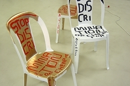 THE POET WILL POLISH - TINA ROEDER'S WHITE BILLION CHAIRS